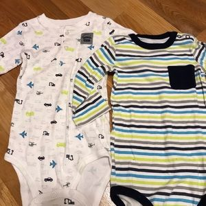 Lot of two Carter's bodysuits size 24 months